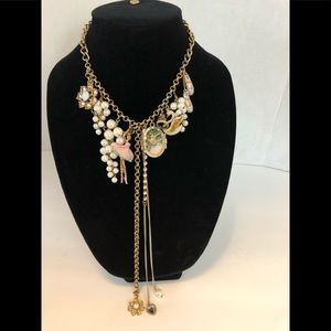 Betsey Johnson Ballerina and Swan Necklace